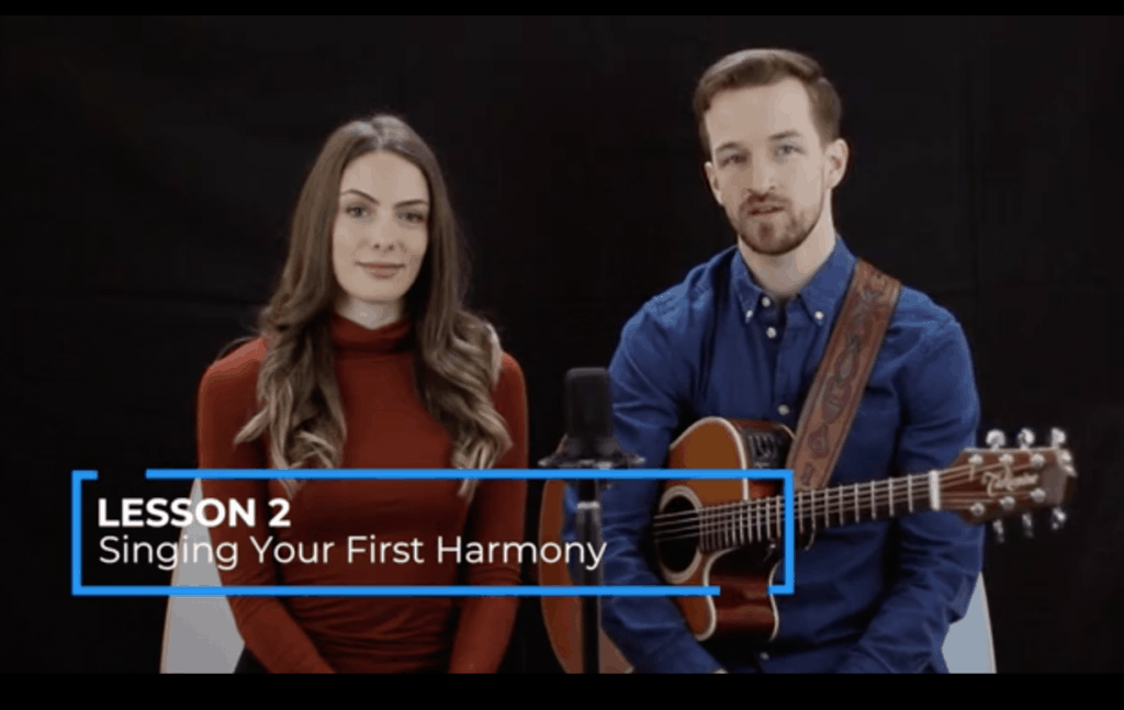 singers singing harmony