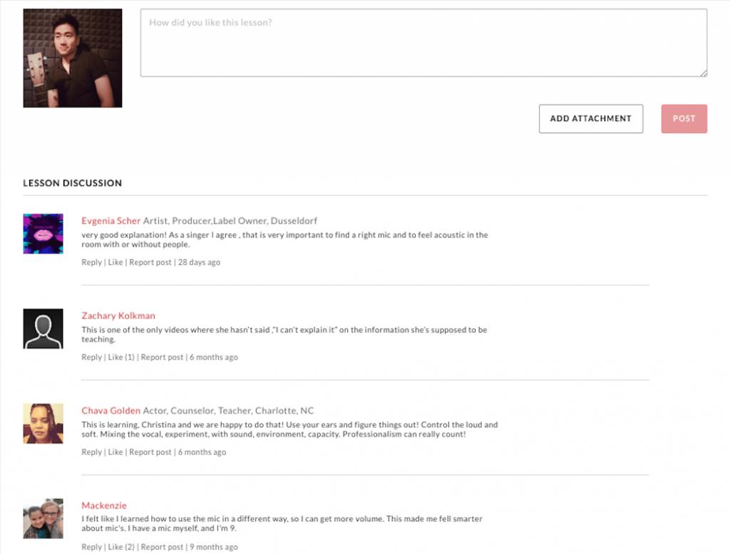 christina aguilera masterclass forum